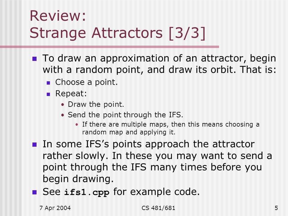 Review: Strange Attractors [3/3]
